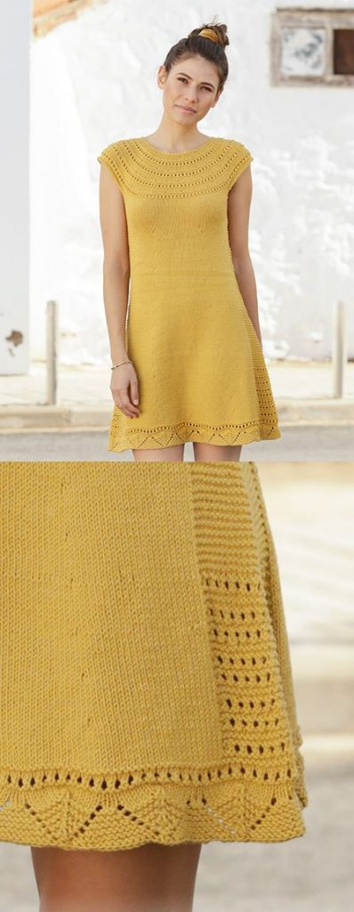 Free Knitting Pattern for a Ladies Summer Cotton Dress