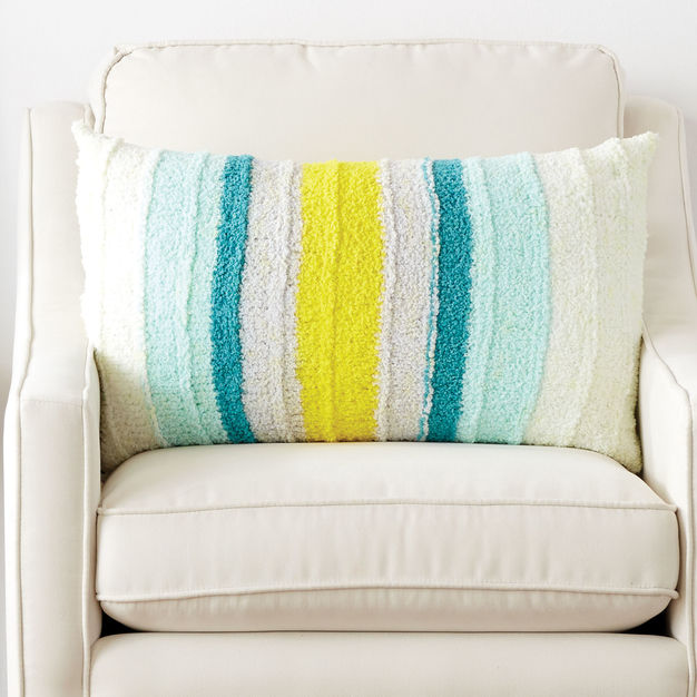 Free Knitting Pattern for a Little Ridge Striped Cushion