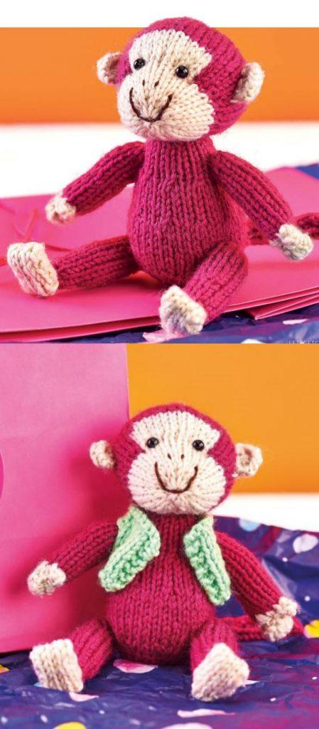 Free Knitting Pattern for a Monkey Toy Amigurumi