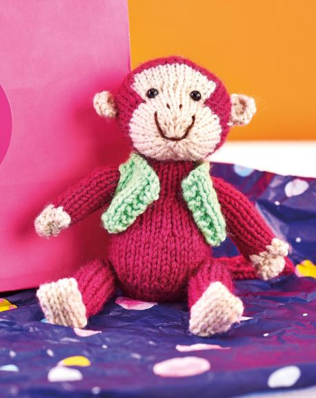 Free Knitting Pattern for a Monkey Toy Amigurumi