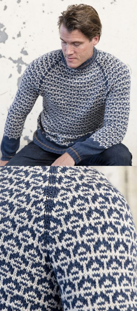 Free Knitting Pattern for a Nordic Men's Sweater