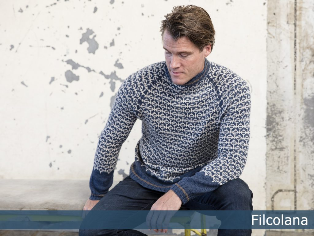 Free Knitting Pattern for a Nordic Men's Sweater - Flint