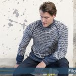 Free Knitting Pattern for a Nordic Men's Sweater - Flint