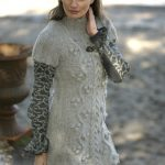 Free Knitting Pattern for a Short Cable Dress for Women