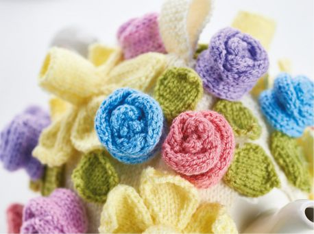 Free Knitting Pattern for a Simple Flower Teacosy