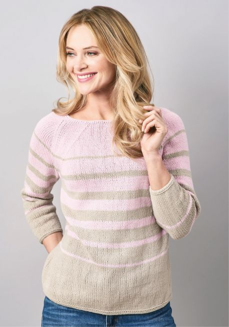 Free Knitting Pattern for a Simple Stripe Sweater