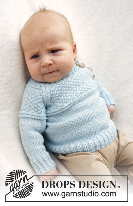 Free Knitting Pattern for a baby jumper