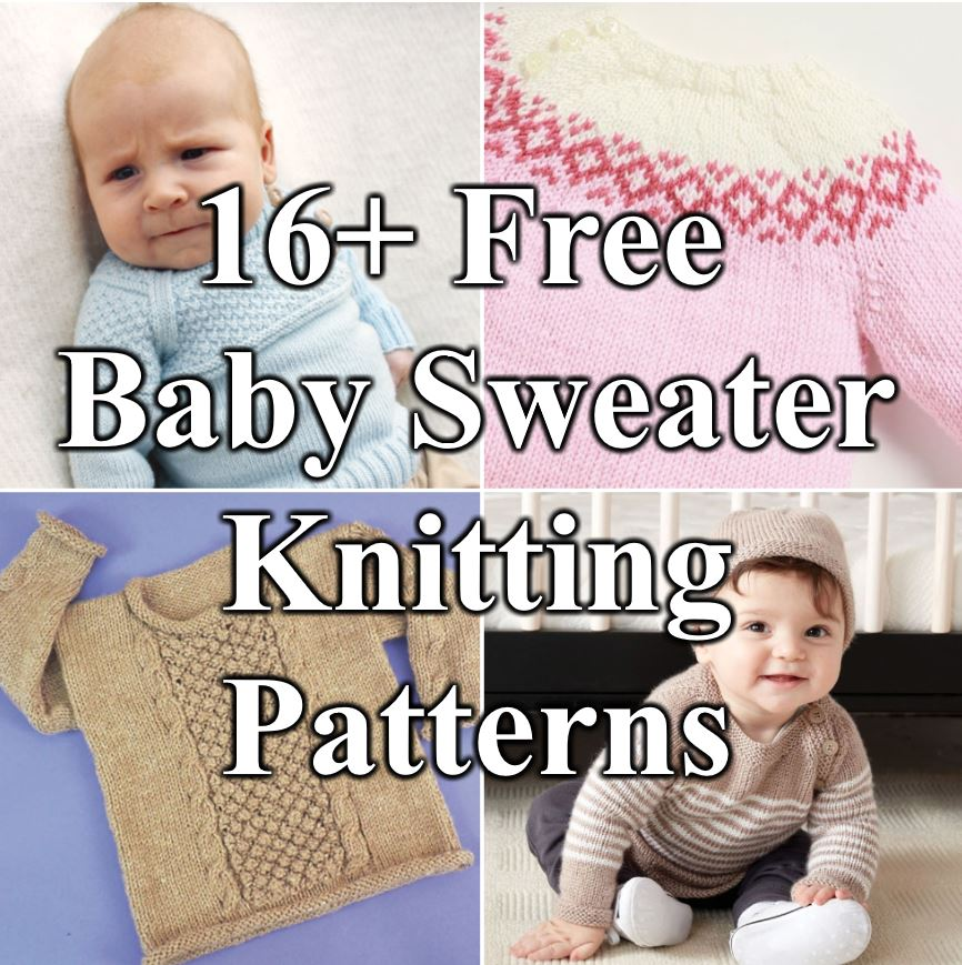 Free knitting pattern for baby sweaters