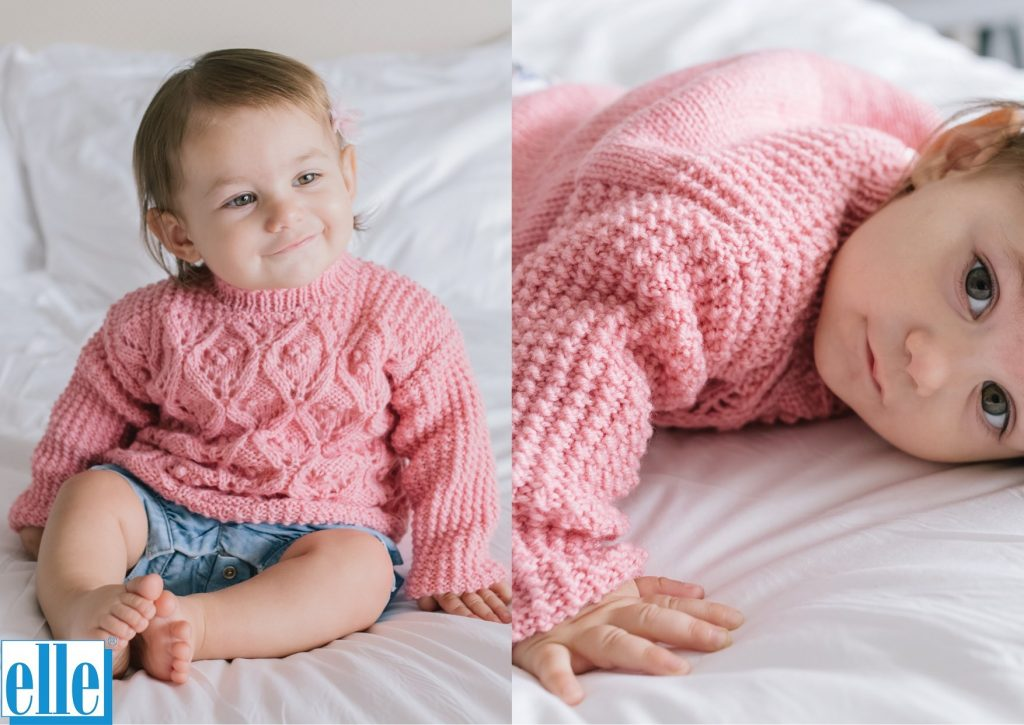 free baby sweater knitting pattern for girls.