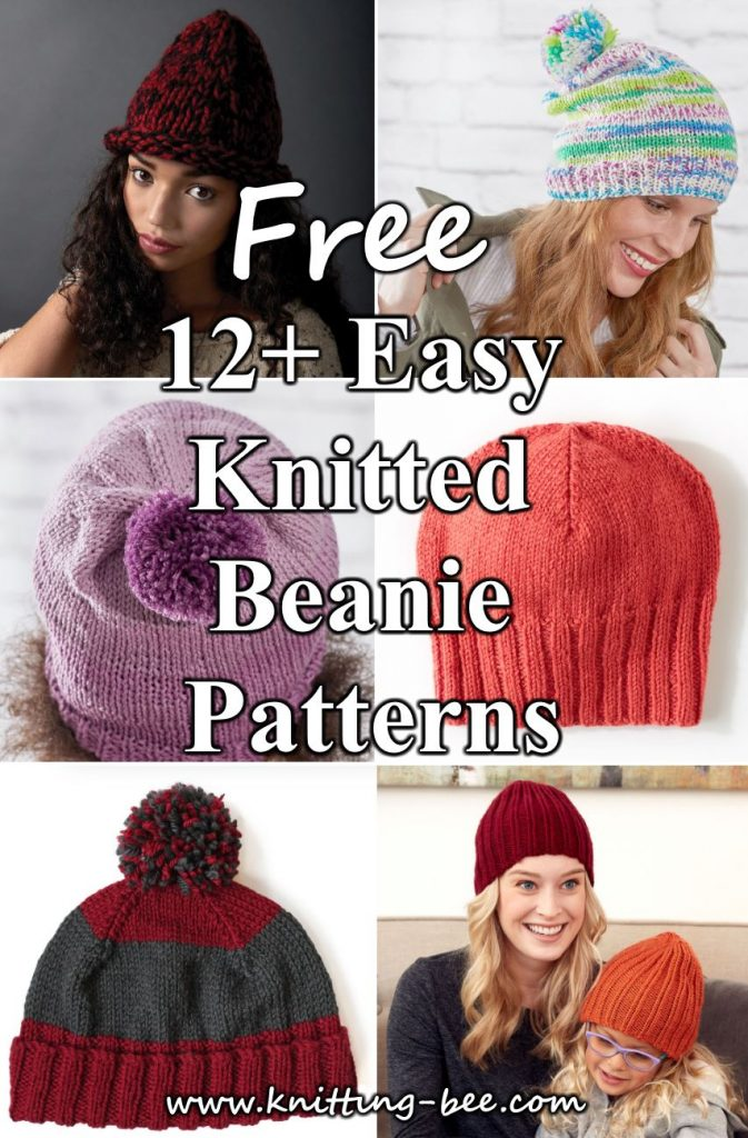 12+ Easy Knitted Beanie Pattern