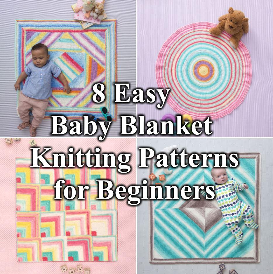 8 Easy Baby Blanket Knitting Pattern for Beginners Free