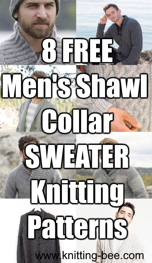 8 Free Mens Shawl Collar Sweater Knitting Patterns
