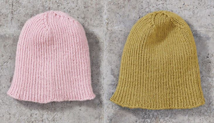 Free knitting pattern for an easy ans basic ribbed beanie