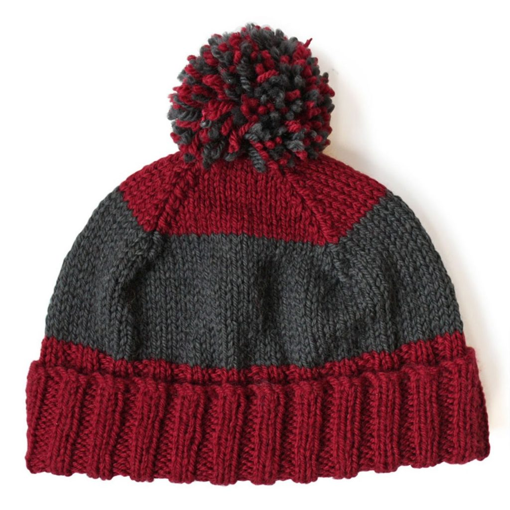 Easily knit a simple, striped hat free pattern