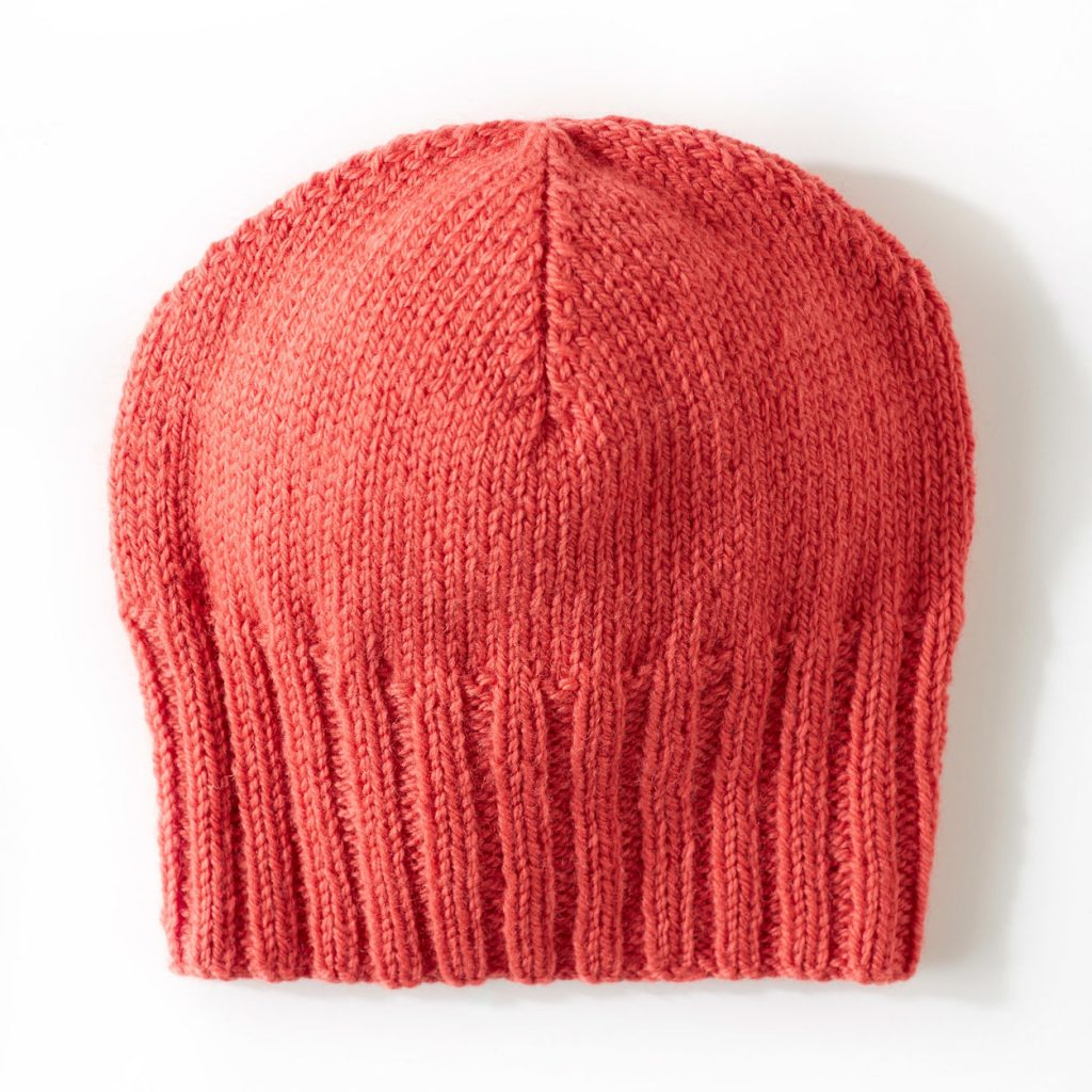Free pattern for an easy knit beanie