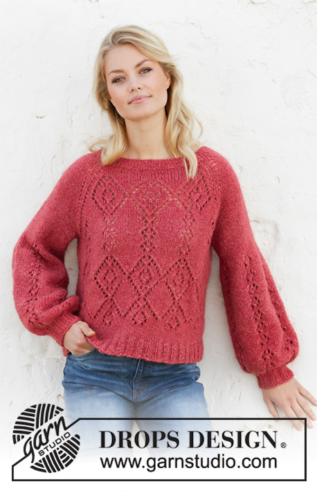 Free Knitting Pattern for a Diamond Lace Sweater