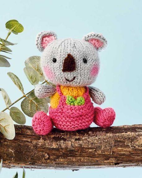 Free Knitting Pattern for a Koala Toy Amigurumi