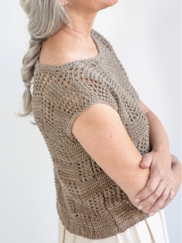 Free Knitting Pattern for a Lace Women's Tee Iras