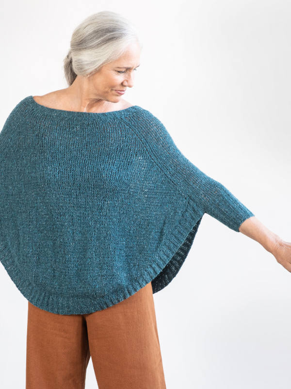 Free Knitting Pattern for a Ladies Top Rosaline