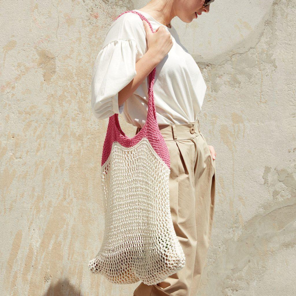 Free Knitting Patterns for Cotton Yarn Market Bag