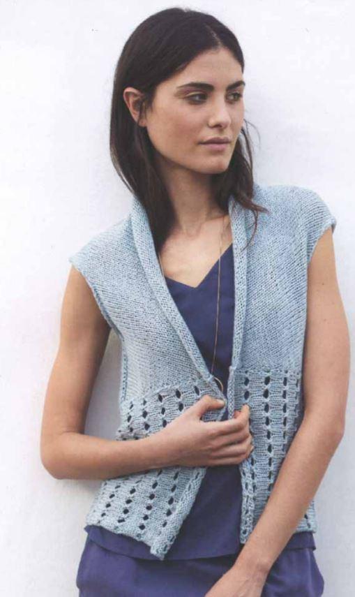 Free Knitting Patterns for Cotton Yarn ladies vest