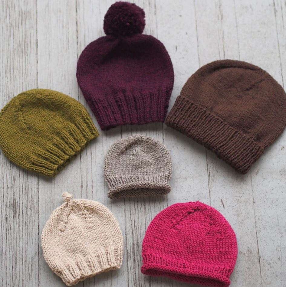 Free and easy knitting pattern for beanies