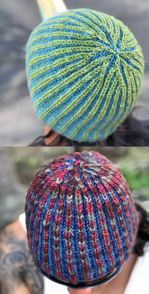 Free easy brioche hat knitting pattern