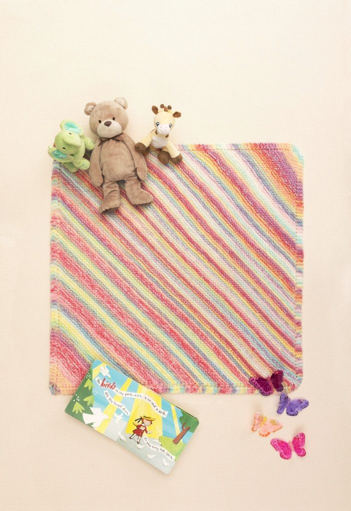Free kniting pattern for a beginner baby blanket