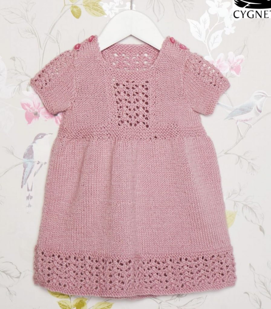 Free knitting pattern for a baby dress