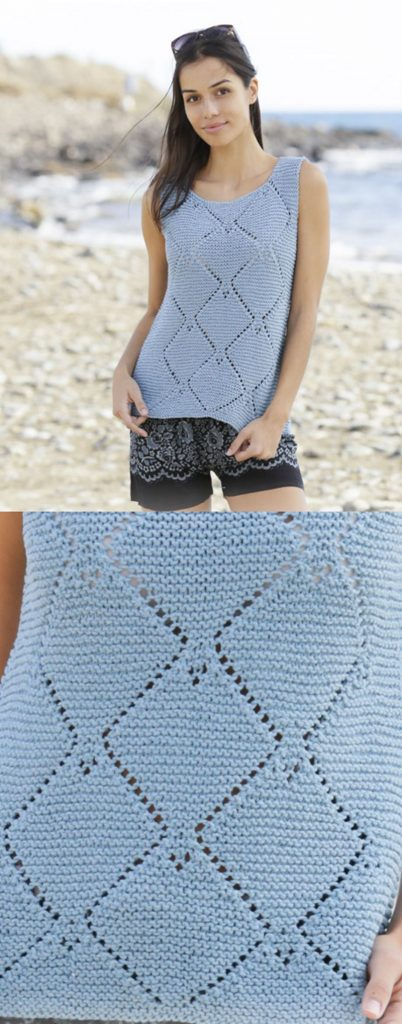Free knitting pattern for a cotton summer tank top