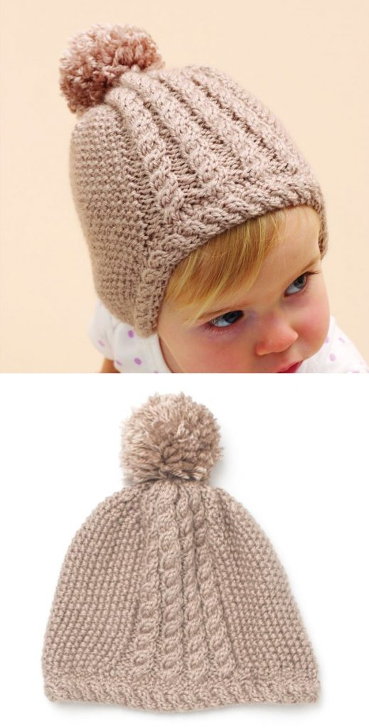 Free knitting pattern for a cute baby hat
