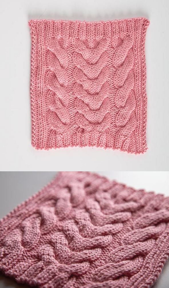 Free knitting pattern for a dishcloth cotton yarn