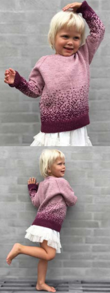 Free knitting pattern for a girls sweater pullover