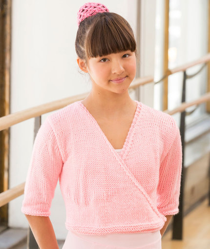 Free knitting pattern for girls ballerina wrap