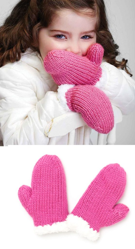 Free knitting pattern for girls mittens