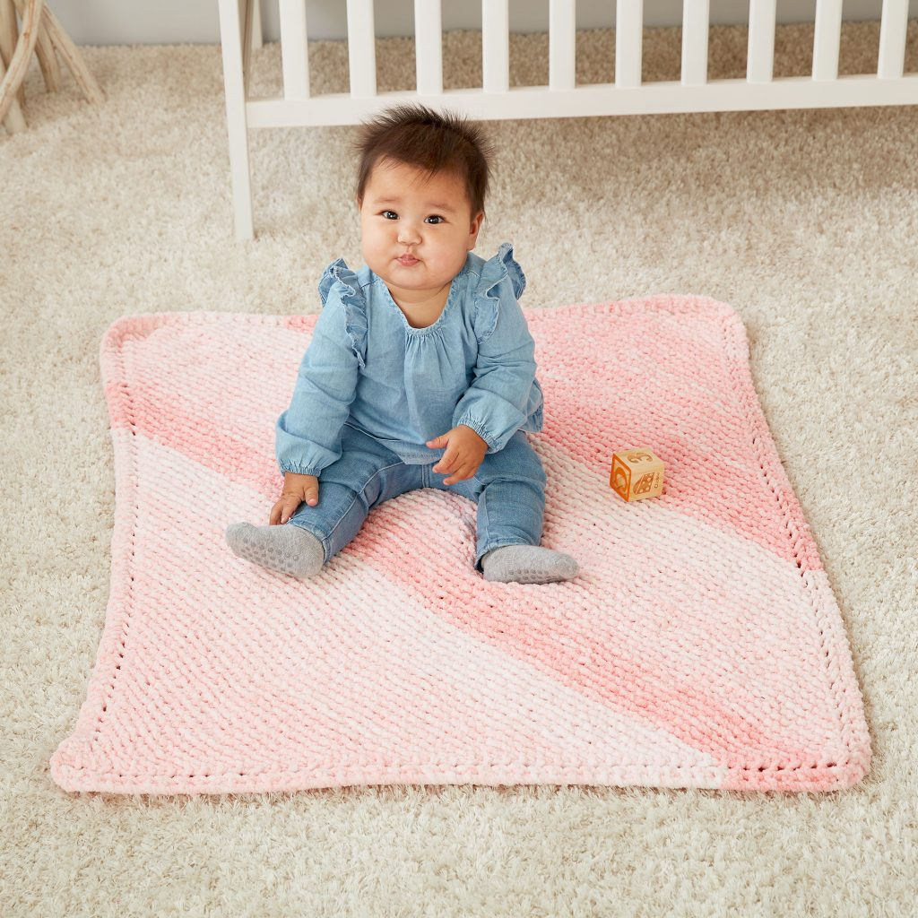 Free Knitting Pattern for a Beginner Corner to Corner Garter Knit Blanket