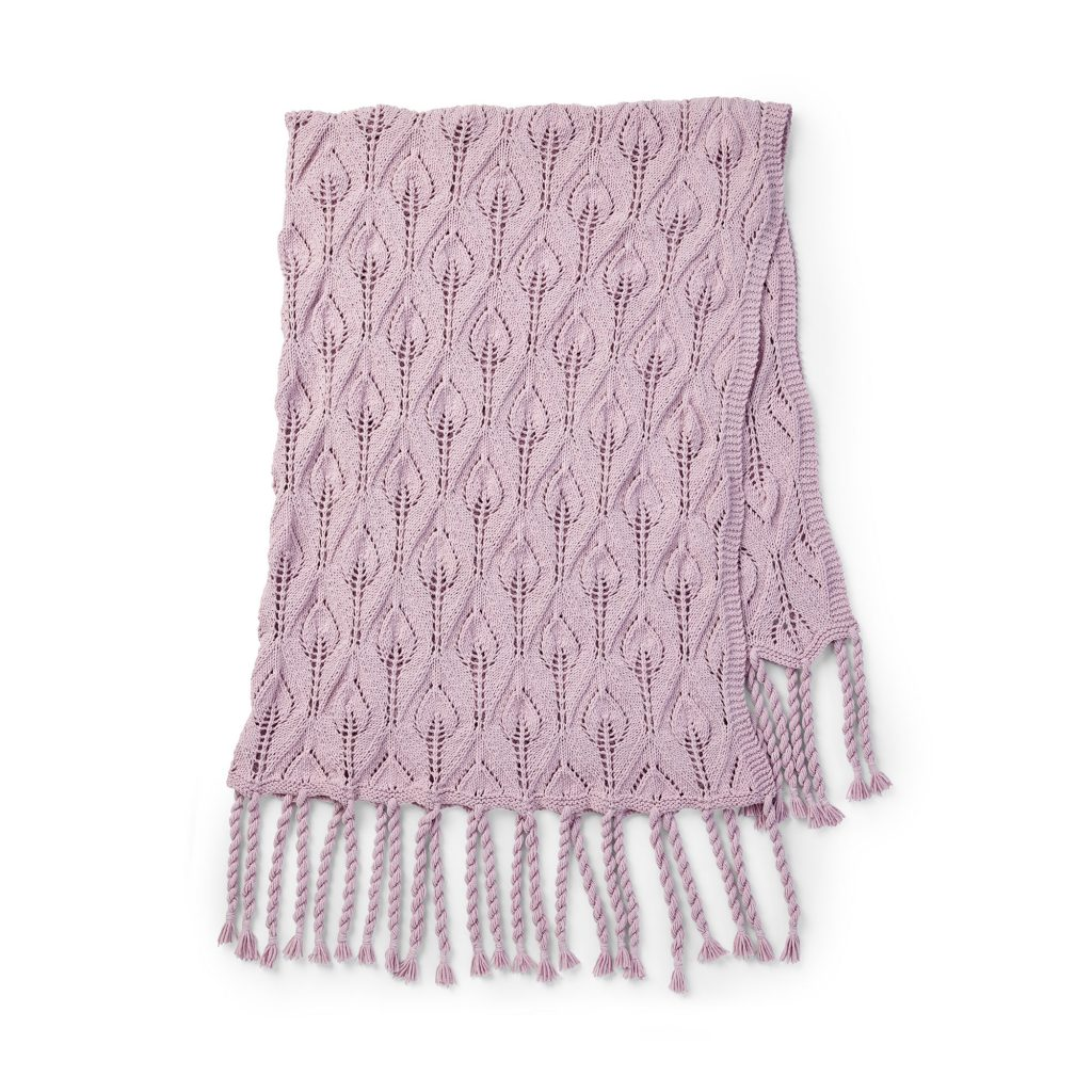 Free Knitting Pattern with a Lace Stitch and Tassels
