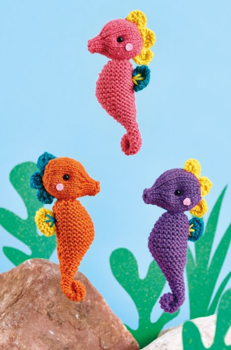 Free Knitting Pattern for Seahorses