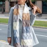 Free Knitting Pattern for a Big Paint Scarf