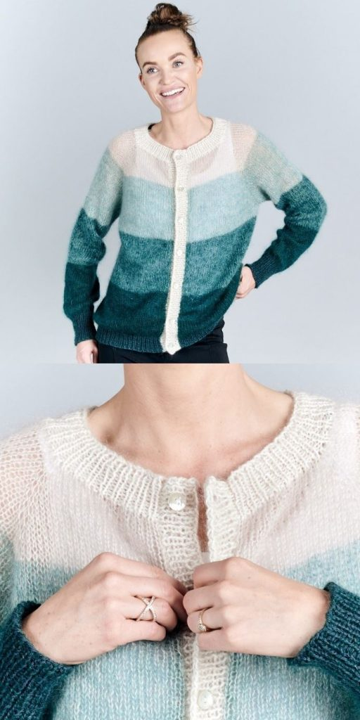 Free Knitting Pattern for a Fade Cardigan for Women