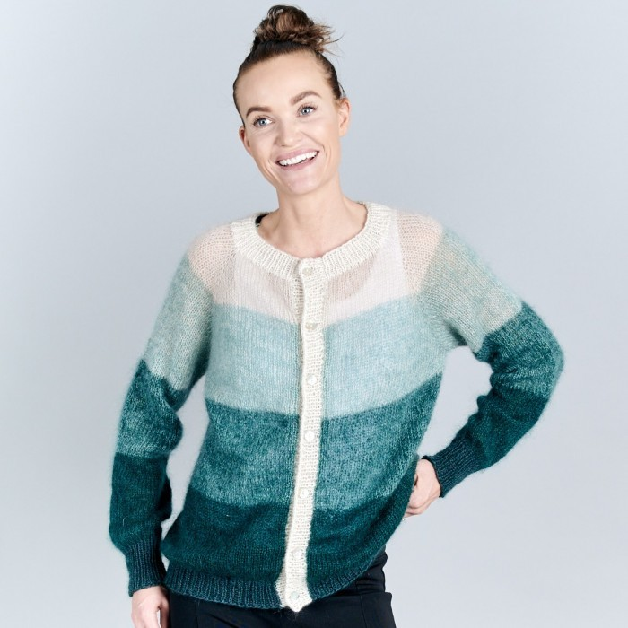 Free Knitting Pattern for a Fade Cardigan