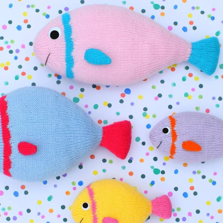 Free Knitting Pattern for a Fish Toy