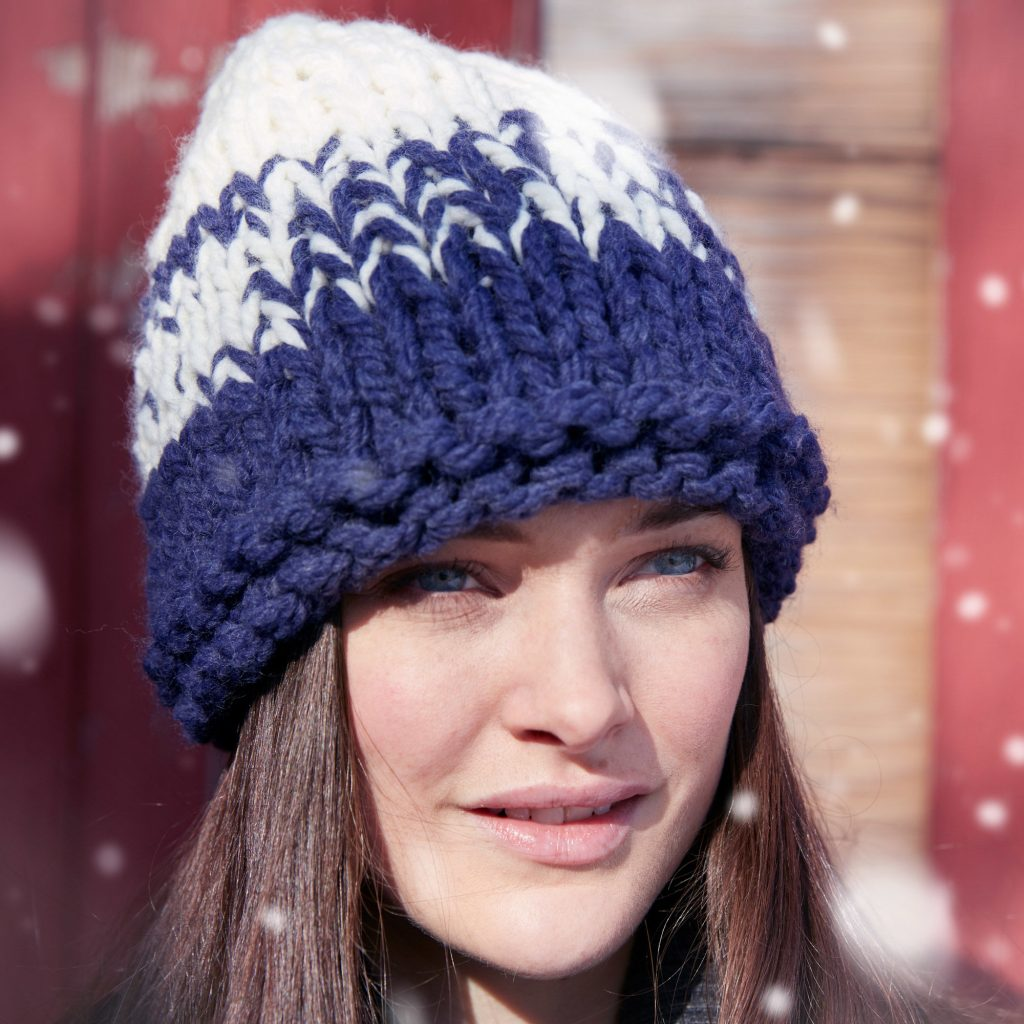 Free Knitting Pattern for a Gradient Hat in Bulky Yarn