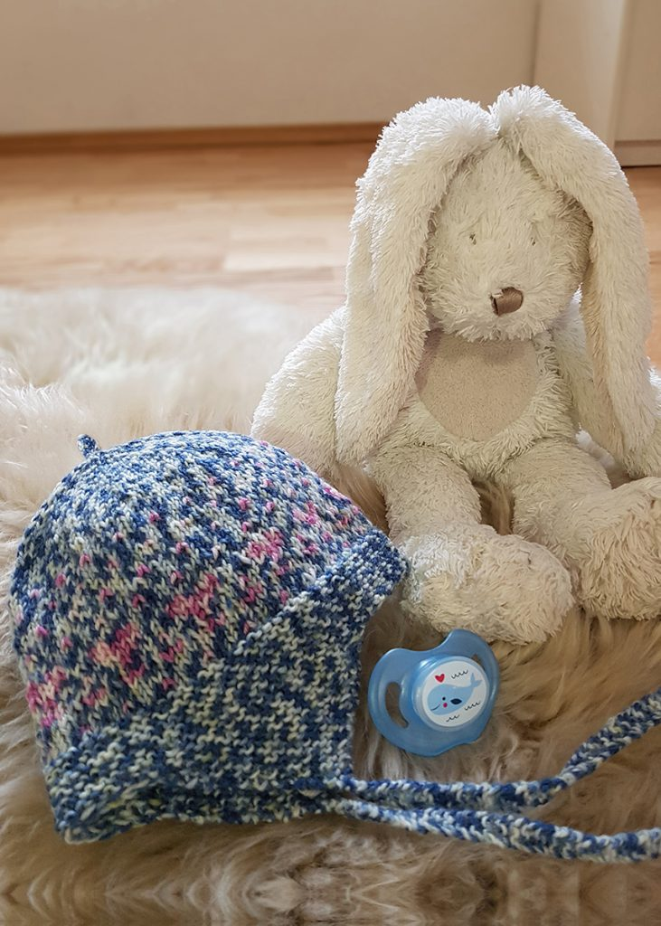 Free Knitting Pattern for a Modern Baby Cap
