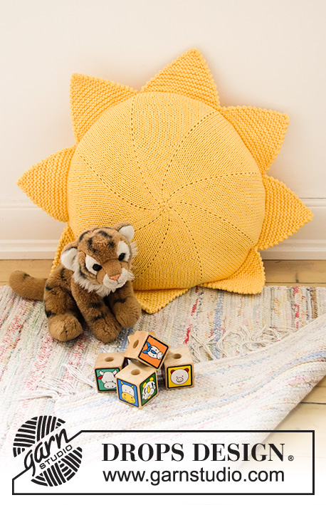 Free Knitting Pattern for a Sunny Nap Pillow for Kids