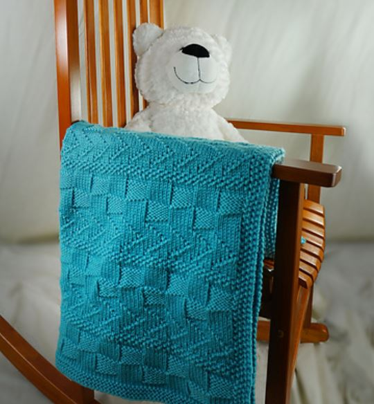 Free Knitting Pattern for a Textured Lap Throw