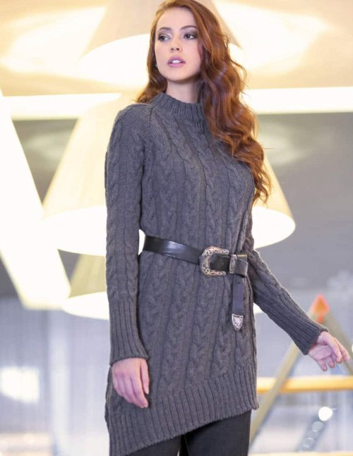 cable dress knitting pattern for women free