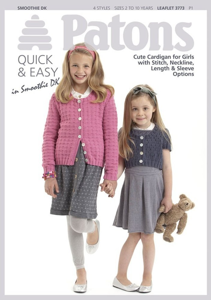 Girls' Cardigans in Patons Smoothie DK - 3773