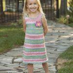 Free Knitting Pattern for a Girl's Picot Sundress