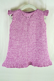 Free Knitting Pattern for a Girl's Flutter Tunic